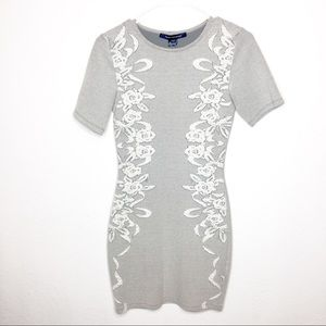 French Connection Embroidered Floral Dress SS Sz.4